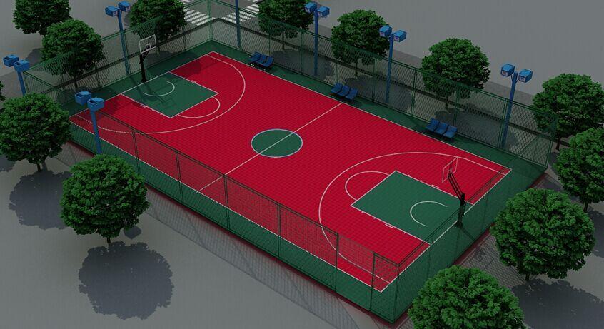 篮球场立体效果图